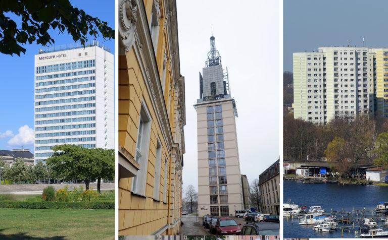 Mercure, Heilig-Geist-Park und immer wieder Wohnhäuser: In der Potsdamer Innenstadt gibt es 26 Hochhäuser.