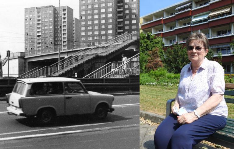 Das Zentrum-Ost 1989 – und Erstbezieherin Hannelore Dollase heute